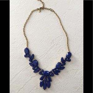 J.Crew Cobalt Blue Statement Necklace